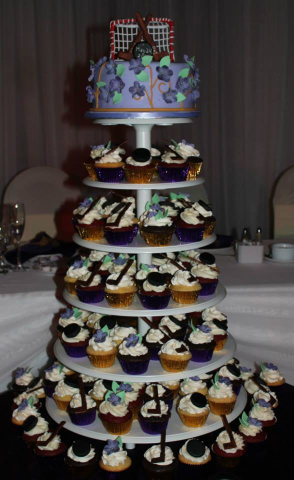 Hockey themed Wedding cake
