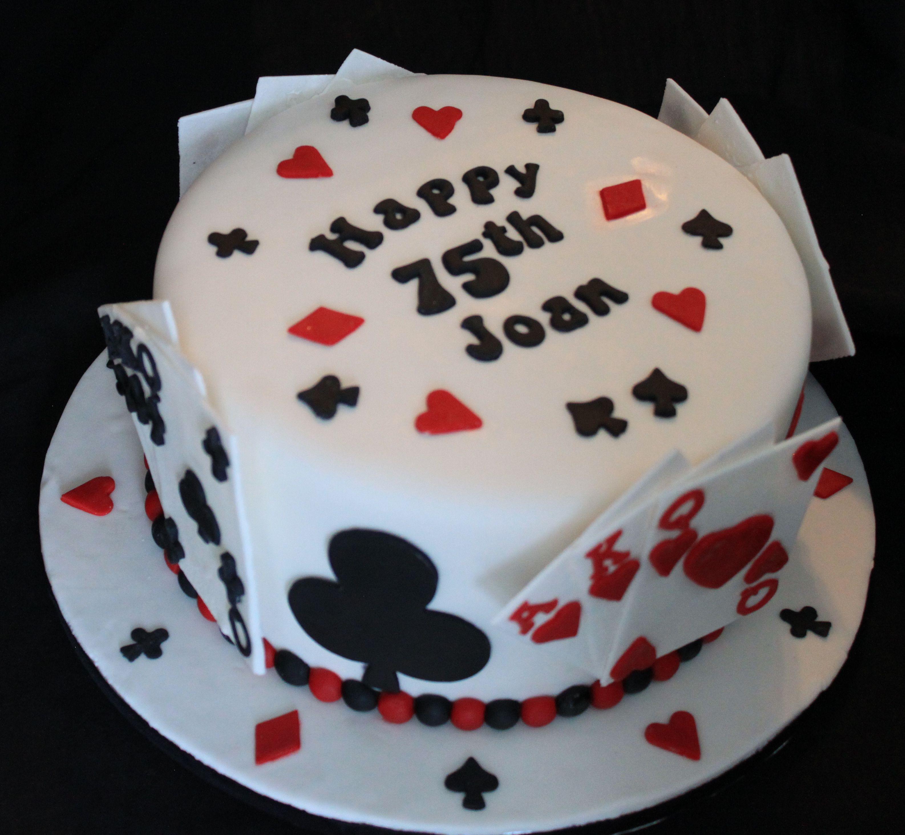 Card player cake