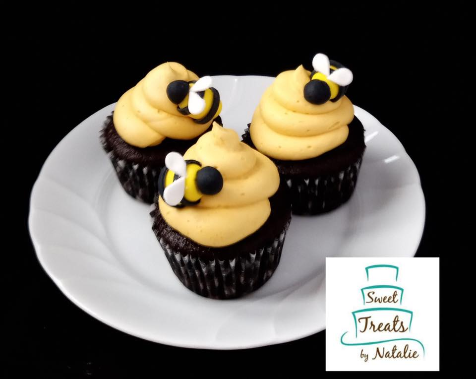 Bees cupcakes