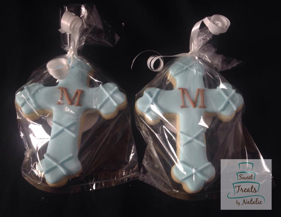 Monogram cross cookie