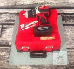 Milwaukee drill & case cake