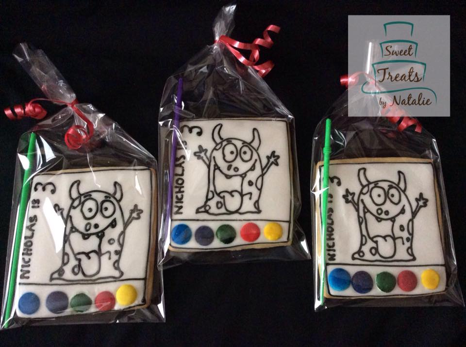 Monster themed PYO cookies