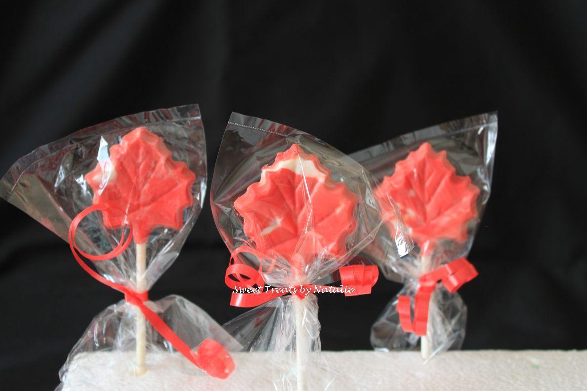 Canada Maple Leaf chocolate lollipop