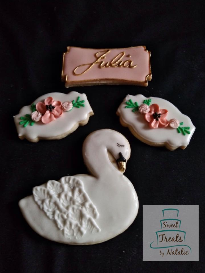 Swan princess cookies