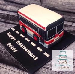 TTC bus Retirement cake