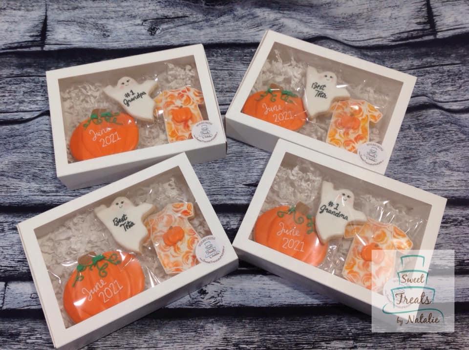 Halloween Baby Announcement cookies