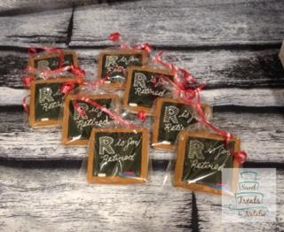 Teacher Retirement cookies