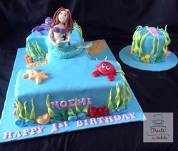 Mermaid cake and smash