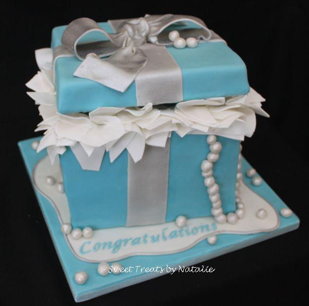 Tiffany box birthday cake