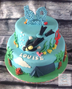 Diver/outdoors theme birthday