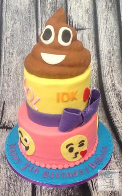 2 tier Emoji cake
