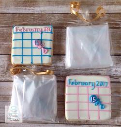 Due Date Baby Shower cookies