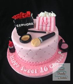 Sephora & Victoria's Secret cake