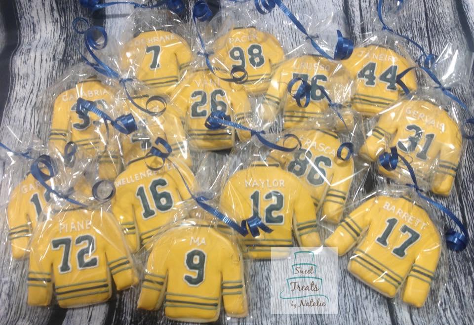 Hockey jersey cookies