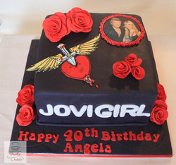 Bon Jovi fan Birthday cake