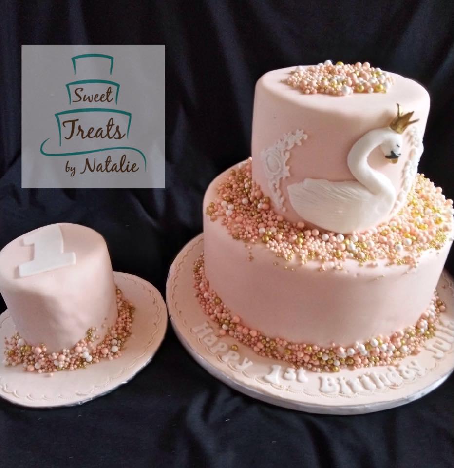 Swan princess cake