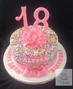 Sprinkle 18th Birthday cake
