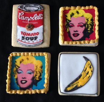Pop art themed cookies