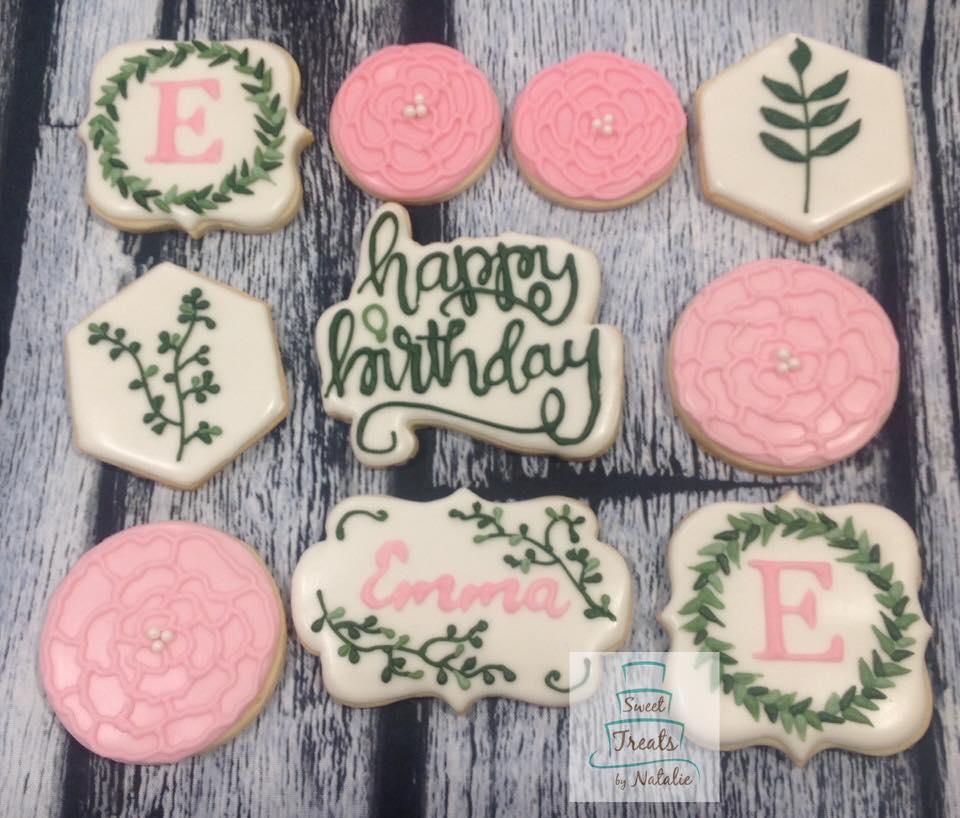 Outdoorsy birthday cookies