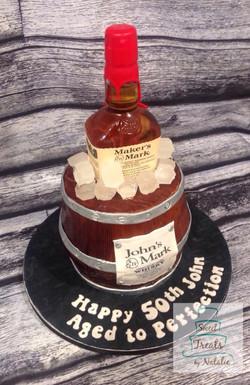 Maker's Mark cake