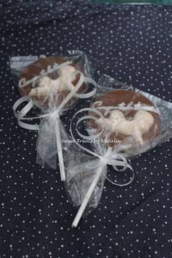'Congratulations' chocolate lollipop