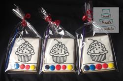 Cupcakes themed PYO cookies