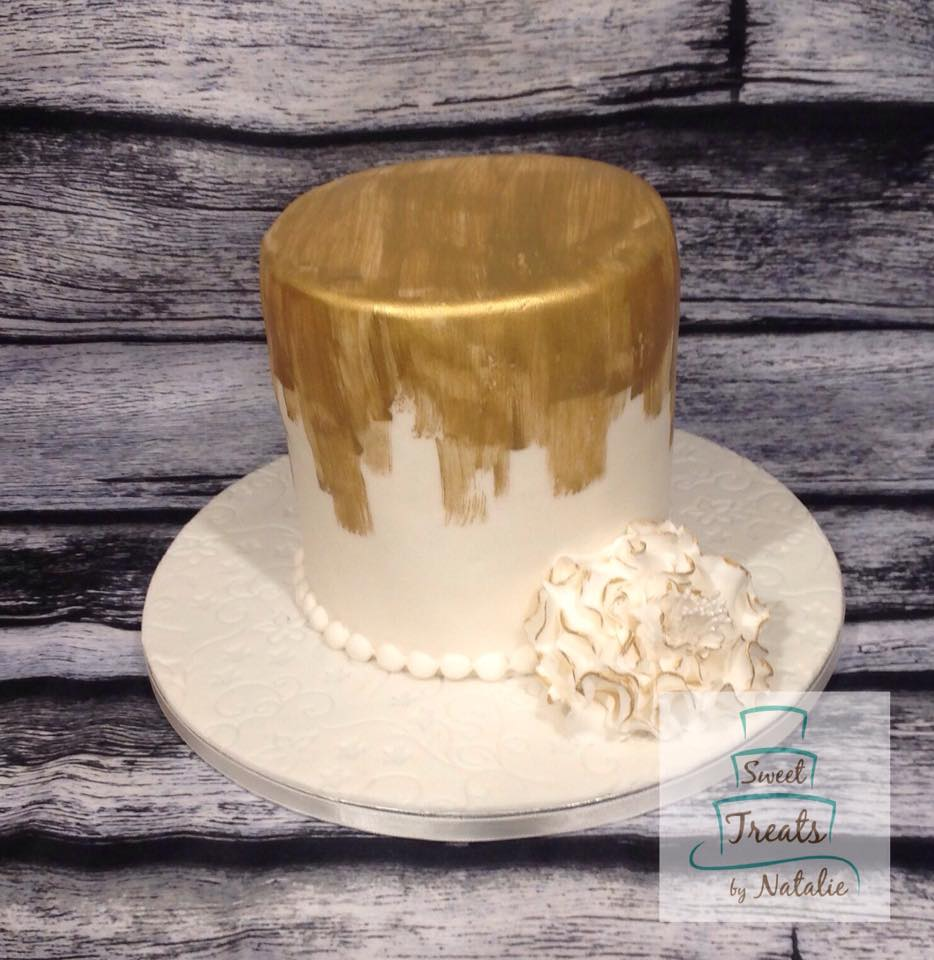 Brushed Gold Wedding cake