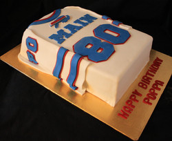 Hockey Jersey birthday cake