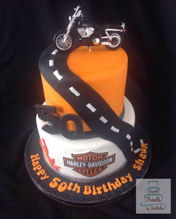 Harley Davidson themed cake