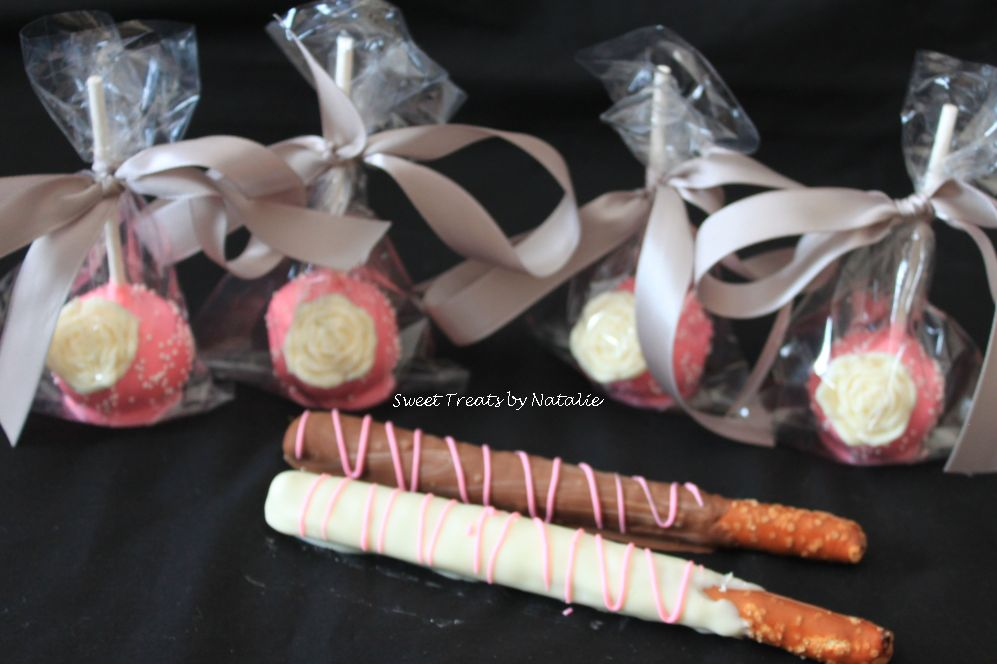 Flowers and pretzel rods