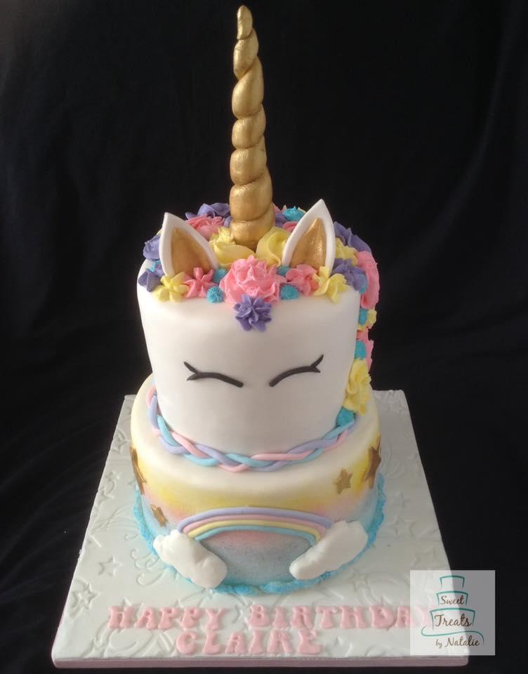 Unicorn 2 tier cake
