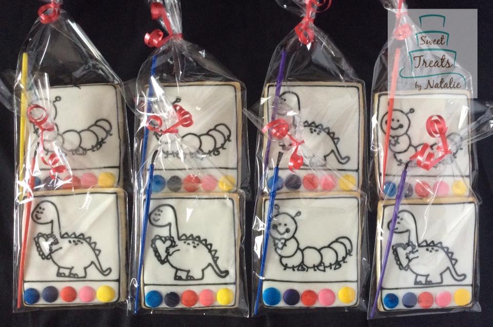 Valentine themed PYO cookies