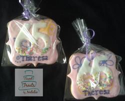 65th Birthday cookies