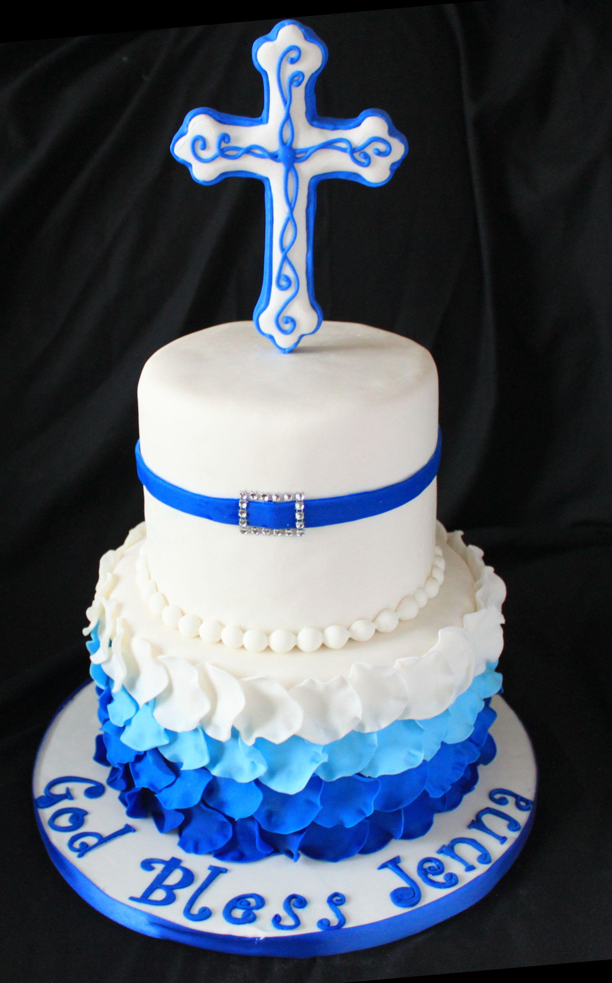 Ruffled Confirmation cake