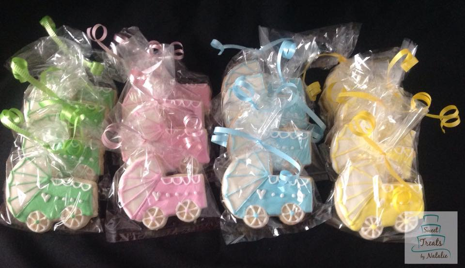 Baby Stroller Baby Shower cookies