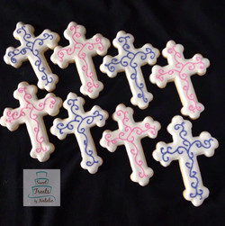 Pink & purple crosses