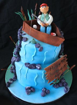 2 tier Fisherman cake