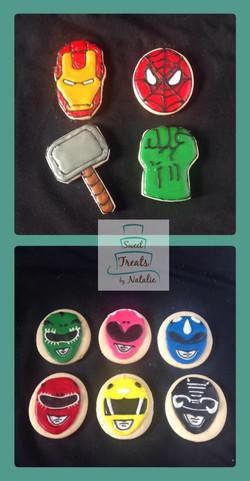Avengers & Power Rangers cookies
