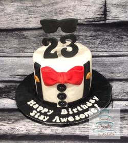 Red Bowtie cake