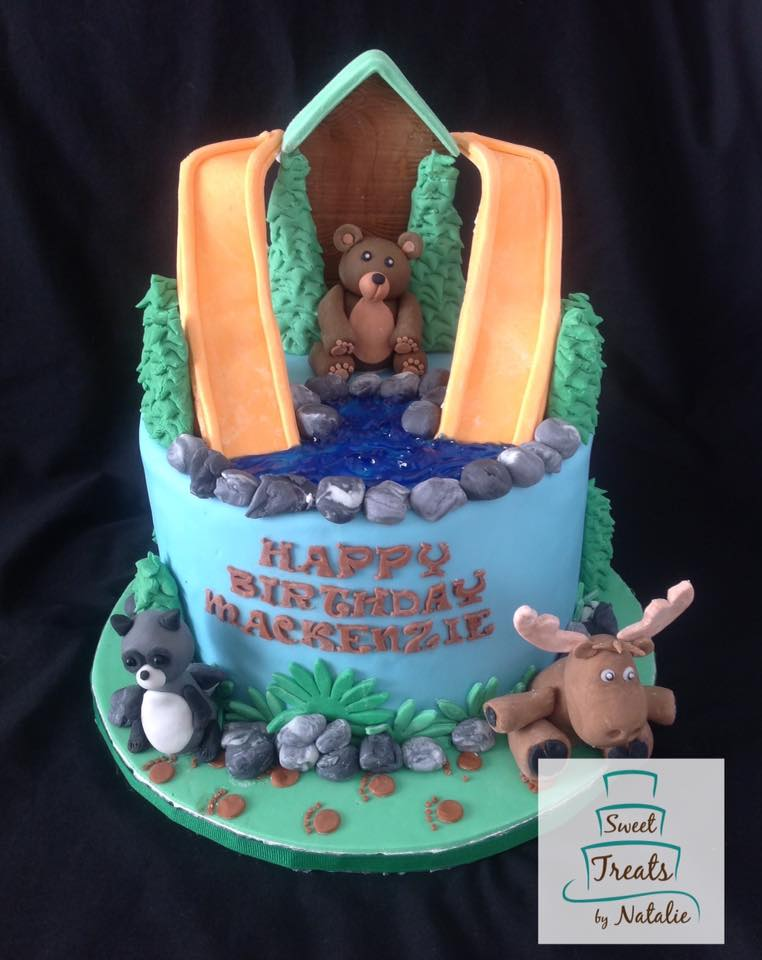 Great Wolf Lodge themed cake