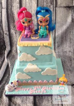Shimmer & Shine cake
