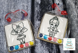 LOL Doll PYO cookies
