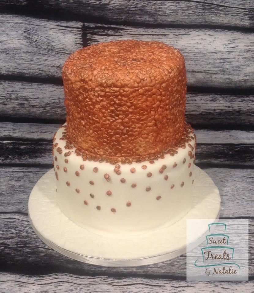 Rose Gold Sequin cake