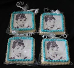 Audrey Hepburn edible image cookies