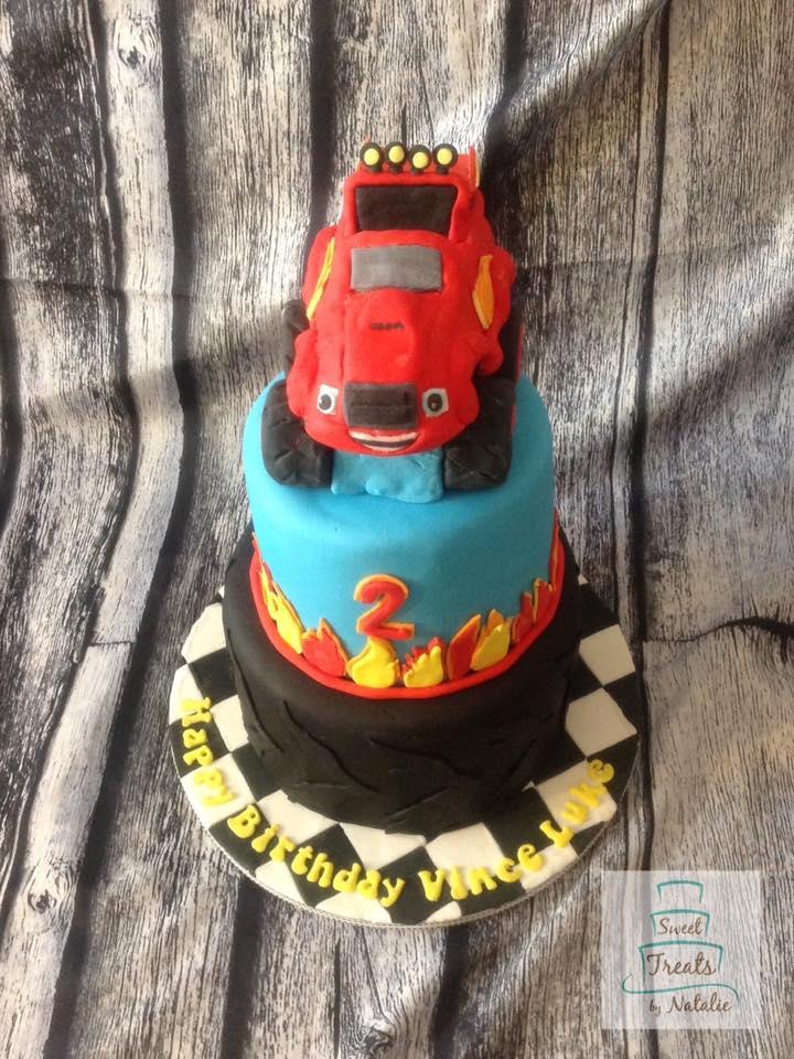 Blaze racing cake