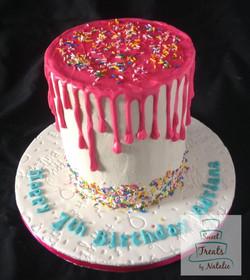 Sprinkle drip cake