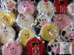 Barnyard animal cookies