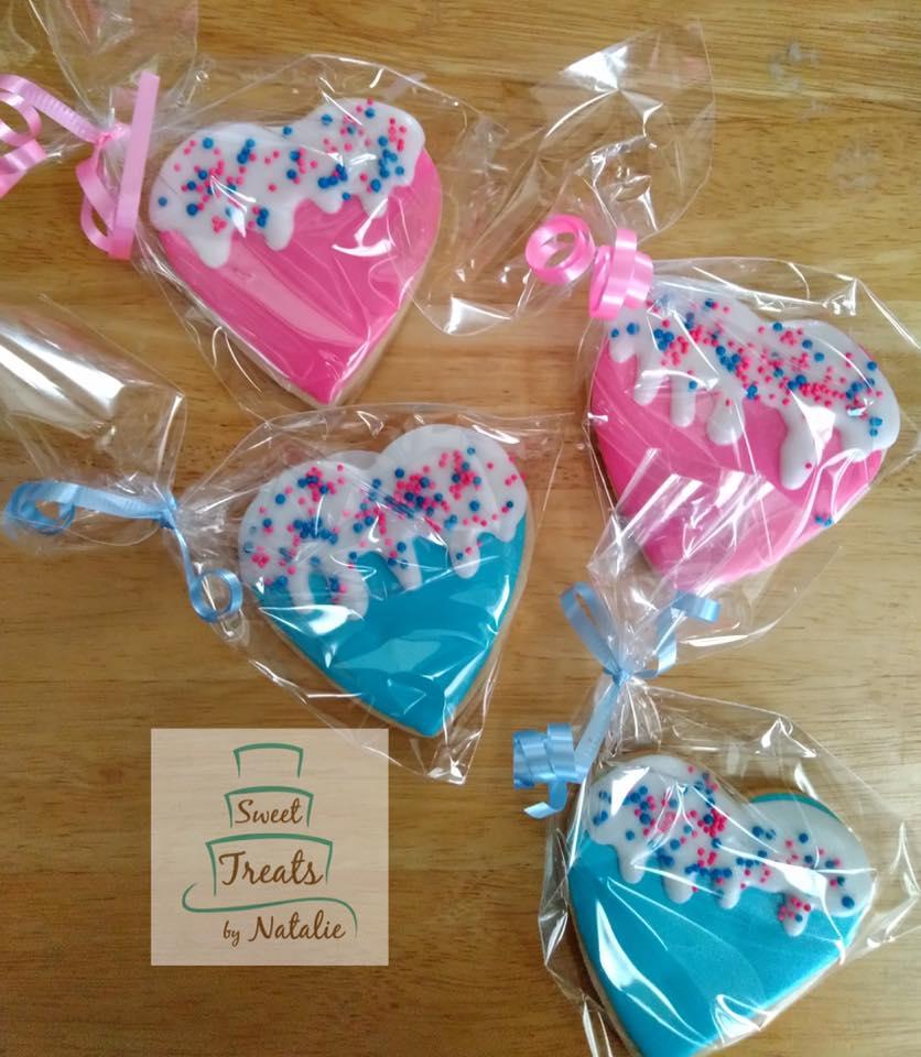Drippy heart cookies