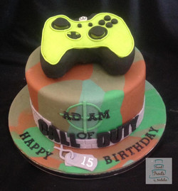 Xbox Call of Duty Birthday cake