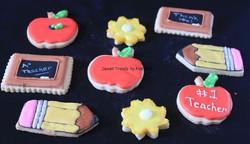 School themed cookies